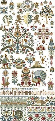 Historische Muster - StickWiese - Cornelia Gmeiner - Kalchreuth