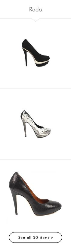 """""""Rodo"""" by ahmady ❤ liked on Polyvore featuring shoes, pumps, high heel shoes, rodo, high heeled footwear, kohl shoes, black high heel pumps, gray pumps, gray shoes and grey pumps"""