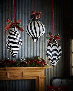 MacKenzie-Childs Jumbo Ball Capiz Christmas Ornament