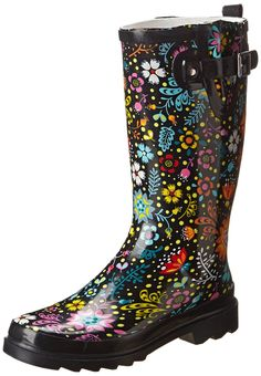 Women's Rain Boots - Fun Leaves (Apparently Target has super cool ...
