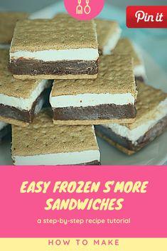 Easy Frozen S'More Sandwiches - Hummus Sandwich, Grill Sandwich, Croissant Sandwich, Gourmet Sandwiches, Reuben Sandwich, Party Sandwiches, Salami Sandwich, Bagels Sandwich, Mozzarella Sandwich