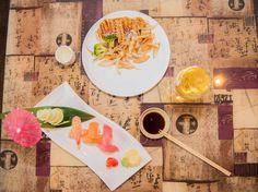 Chicken Teriyaki and Sushi