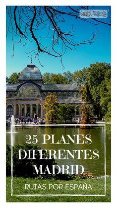 25 planes diferentes que hacer en Madrid, visitas gratis, Madrid visitas baratas. #madrid #caracolviajero #viajes
