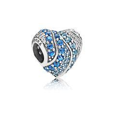 Pandora Jewelry Aqua Heart Charm in Sterling Silver Charms Pandora, Pandora Beads, Pandora Jewelry, Pandora Bracelets, Charm Bracelets, Silver Charms, Silver Jewelry, Fine Jewelry, Pandora Charms