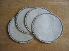 Easy-to-Sew Micro-Fiber Suede Coasters