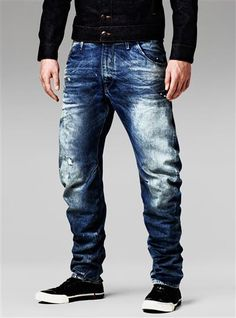 Discover G-Star bestsellers for men and get inspired. Order at the Official G-Star Online Store. Denim Jeans Men, Jeans Pants, Denim Man, Denim Fashion, Boy Fashion, Drop Crotch Jeans, Popular Jeans, G Star Raw Jeans, Military Fashion