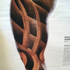 Love this design! Hope to have a version as a sleeve someday. (photo of Kaillie Humphries via ESPN The Magazine) Kaillie Humphries, Sexy Tattoos, Espn, I Tattoo, Magazine, Ink, Sleeve, Girls, Ideas