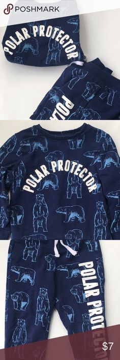 H&M jogging suit Navy blue with light polar bears H&M Matching Sets