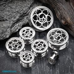 A Pair of Lotus Ohm Divine Steel Screw-Fit Tunnel Plug