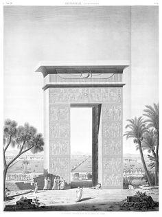 Description de l'Egypte    Avec l'expédition d'Egypte de Napoléon Bonaparte c'est quelques 150 savants et 2000 artistes qui accompagnent les troupes.