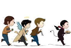 """""""Son Of A Bitch, That's My Pie!"""" - Dean Winchester // Sammy, Castiel & Dean // Supernatural"""