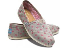 These are super cute- pinned to show that all kids should be loved unconditionally. #WearToms  Hearts Women's Classics hero