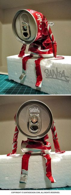 #Recycle #Toy #CAN #DIY / #Coke #CocaCola #Robot #Machine / 2013