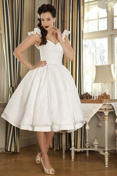 dc93e7a3f0a8 The Black Label Summerville from Dot Swiss Cotton - shorter tea length  wedding dress Dolly Couture