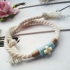 Baby Boy Christening, Clay Crafts, Wedding Favors, Projects To Try, Jewelry Making, Baptism Ideas, Jewels, Sewing, Bracelets