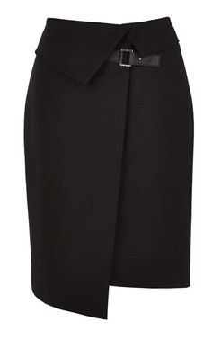 Asymmetric wrap skirt-Karen Millen