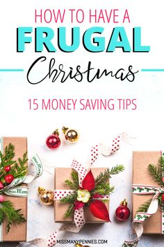 Money saving ideas for having a festive but frugal Christmas. Stay out of debt over the holidays with these easy frugal tips for having Christmas on a budget. hacks How To Have A Frugal Christmas Christmas On A Budget, Cheap Christmas, All Things Christmas, Holiday Fun, Holiday Gifts, Christmas Holidays, Christmas Gifts, Christmas Decorations, Festive