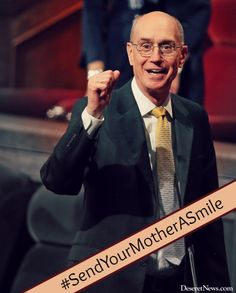 """...You might send [your mother] a smile of thanks right now."" President Eyring #WomensMeeting #lds #quotes"