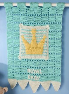 Royal Heir Wall Hanging in Red Heart Anne Geddes Baby - LW3647