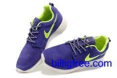 Verkaufen billig Schuhe Damen Nike Roshe Run (Farbe: Vamp - lila , innen logo - grun; Sohle - weiB) Online in Deutschland.