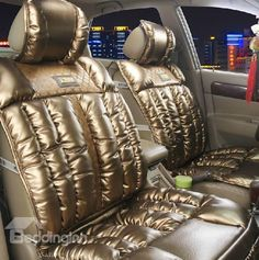 New Arrival Luxury Shining Leather Style High Quality Fashion Seat Cover