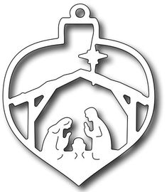 Frantic Stamper Precision Die - Nativity Christmas Bauble-measures x Use alone or with the background die Christmas Ornament Crafts, Wood Ornaments, Christmas Nativity, Felt Christmas, Christmas Projects, Christmas Tree Ornaments, Christmas Decorations, Nativity Creche, Nativity Crafts
