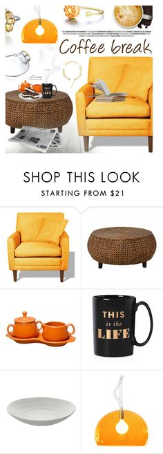 """""""Coffee Break"""" by totwoo ❤ liked on Polyvore featuring interior, interiors, interior design, home, home decor, interior decorating, TrueModern, Fiesta, Kate Spade and 10 Strawberry Street"""