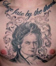 kat von d tattoos | Ludwig van Beethoven tattoo By: Kat Von D