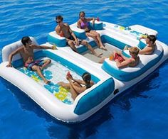 206$Enjoy summer the way it was meant to be when you take the floating island raft out on your next maritime excursion. This luxury float features a sturdy construction made to stand up to mother nature while it comfortably accommodates up to six people simultaneously. Buy It $205.99 via Amazon.com