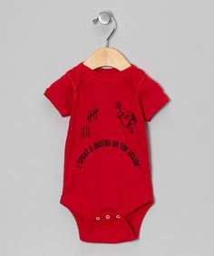 Look at this Urs Truly Red '9 Months on the Inside' Bodysuit - Infant on #zulily today!