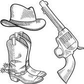 Clip Art of Cowboy boots .Vector graphic image k6548318 - Search Clipart, Illustration Posters, Drawings, and EPS Vector Graphics Images - k6548318.eps