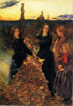 """Autumn Equinox:  """"Autumn Leaves,"""" by John Everett Millais, 1855. #Autumn #Equinox."""