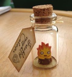 Details about New bottle Calcifer flame fire spirit howl's moving castle Studio Ghibli gift New Bottle Calcifer Flame Fire Spirit Howl's Moving Castle Studio Ghibli Gift Bottle Charms, Clay Charms, Hayao Miyazaki, Totoro, Fimo Kawaii, Anime Crafts, Film D'animation, Ghibli Movies, Howls Moving Castle