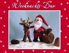 """Häkelanleitung """"Weihnachts-Duo""""Nikolaus & Ren von Babsie´s Hook auf DaWanda.com"""