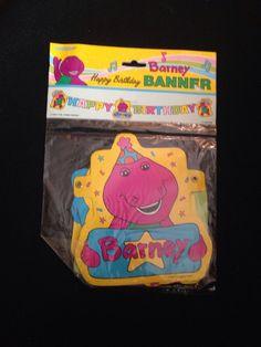 Vintage Dakin Barney Dinosaur Backyard Gang First Ever