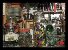 Multimedia Artist, Toy Collector, Ho Scale, Community Art, Online Art, Markers, Jars, Stuffed Mushrooms, Lego