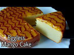 Mango Cake Eggless Mango Cake Without Oven Butter Paper Cream Condensed Milk Butter Curd Youtub In 2020 Mango Cake Dessert Cake Recipes Indian Dessert Recipes
