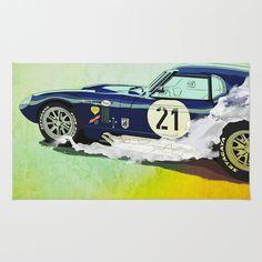 Daytona Coupe Rug by SEVENTRAPS | Society6