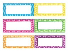 CHEVRON LABELS EDITABLE - TeachersPayTeachers.com