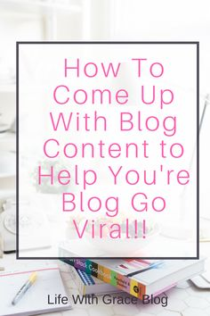 Helpful tips and tricks to get your creative juices flowing to come up with great blog content! these writing tips helped me come up with multiple viral posts for my blog! If you need help writing new quality blog content read this article!