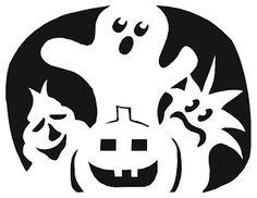 Ghost - Pumpkin Template   Halloween   Pinterest   Pumpkins, Ghost ...