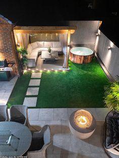 Back Garden Design, Modern Garden Design, Hot Tub Backyard, Small Backyard Patio, Backyard Patio Designs, Back Garden Landscaping, Oasis Backyard, Garden Oasis, Backyard Makeover