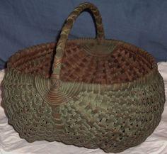 Basket painted green - ebay gina81004