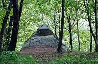 Dolmen - Pyramid in Mamed Canyon, Kuapse river. (Russia ) The angles are equal to Egyptian Pyramids!