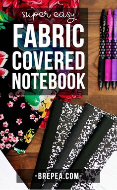 This DIY fabric composition notebook cover is super easy and cheap to make! Such an easy way to decorate your kids notebook for school, or it would make a great teacher Christmas gift! Composition Notebook Covers, Altered Composition Books, Bujo, Bookbinding Tutorial, Teacher Christmas Gifts, Christmas Stuff, Handmade Christmas, Diy Notebook, Decorate Notebook