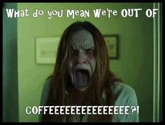 Really scary videos that make you jump and clips from horror movies to make you scream. This website has scary pop ups, prank videos, funny clips, the scary I Love Coffee, My Coffee, Coffee Time, Coffee Shop, Coffee Club, Coffee Break, Coffee Humor, Coffee Quotes, Funny Scary Pranks