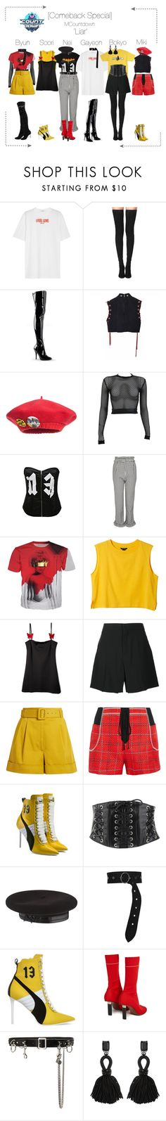 """""""Lunar (루나) [Comeback Special] 'Liar' MCountdown"""" by lunar-official ❤ liked on Polyvore featuring Givenchy, Tamara Mellon, Junior Gaultier, PAM, Topshop, Monki, Chloé, Isa Arfen, 3.1 Phillip Lim and Puma"""