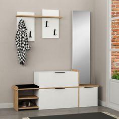 Corridor Design, C Table, Shoe Cabinet, Closet Designs, Wooden Furniture, Entryway Decor, Floating Nightstand, Home Interior Design, Living Room Designs