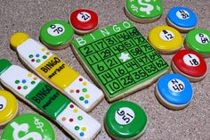 Bingo decorated cookies...next time I will make sure I get the ball colors and letters matched up right ;)  www.facebook.com/cookiesbycharity