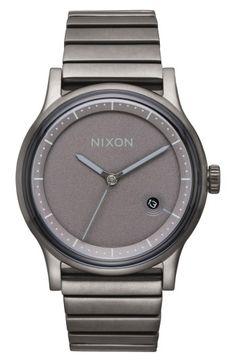 Nixon Station Stainless Steel Bracelet Watch - Gunmetal One Size d895577478b